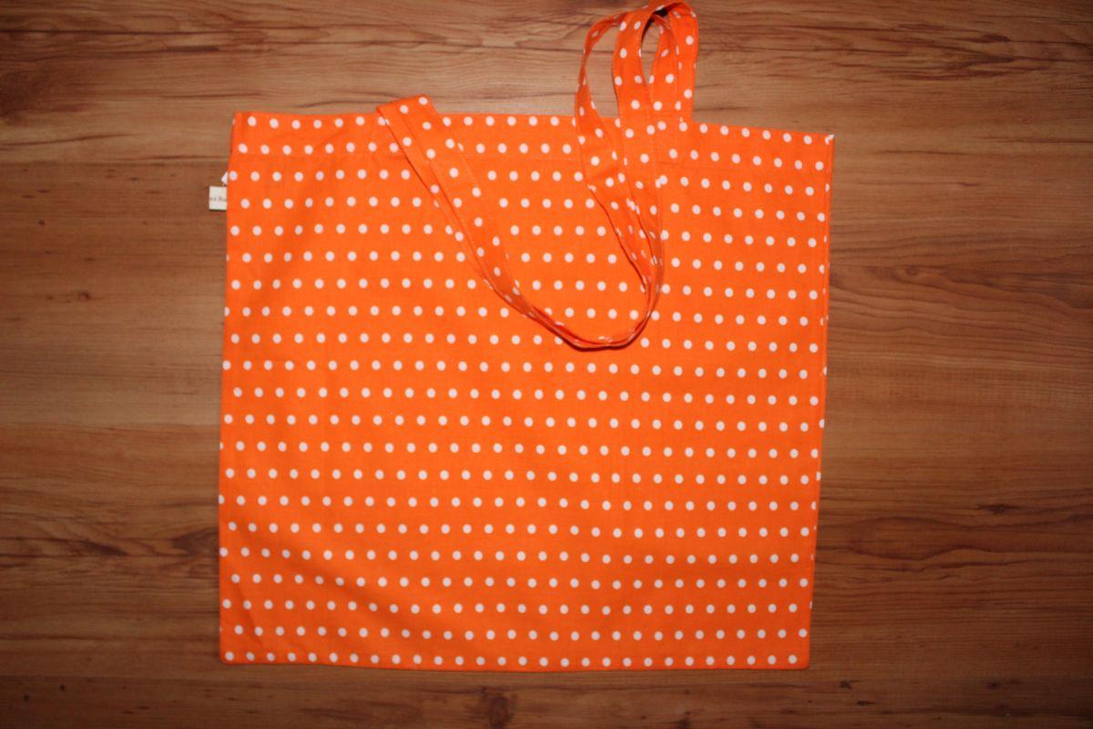 Taška přes rameno - oranžová s puntíky