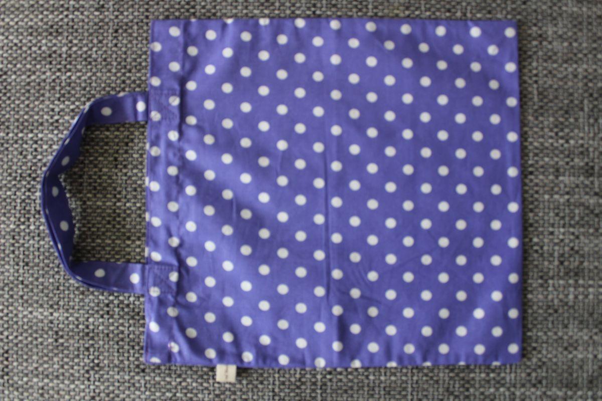 Veselá taška - fialová s puntíky
