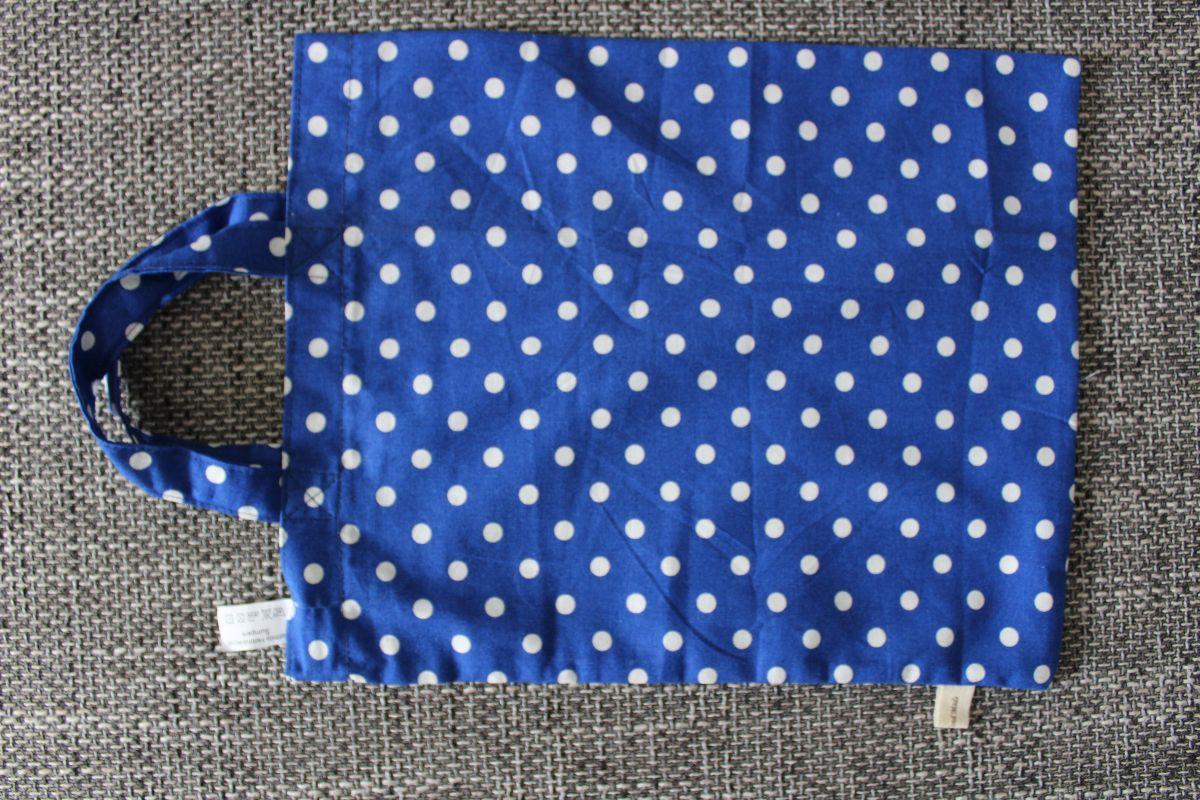 Veselá taška - modrá s puntíky