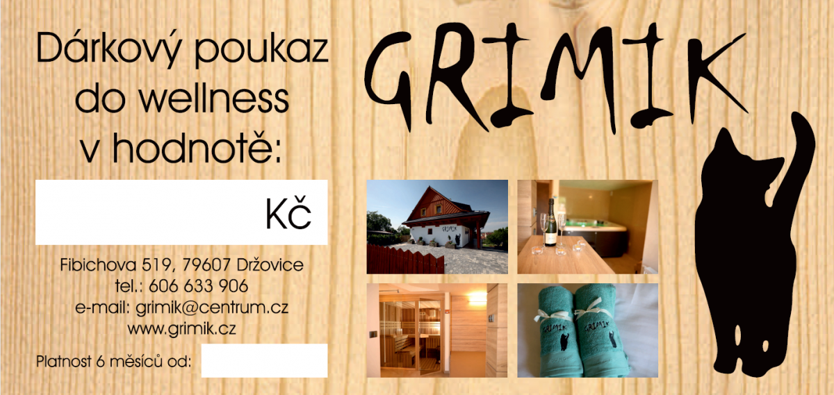 Wellness Grimik - voucher - Sauna