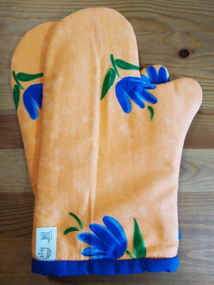 Chňapka (s magnetem) - oranžový tulipán