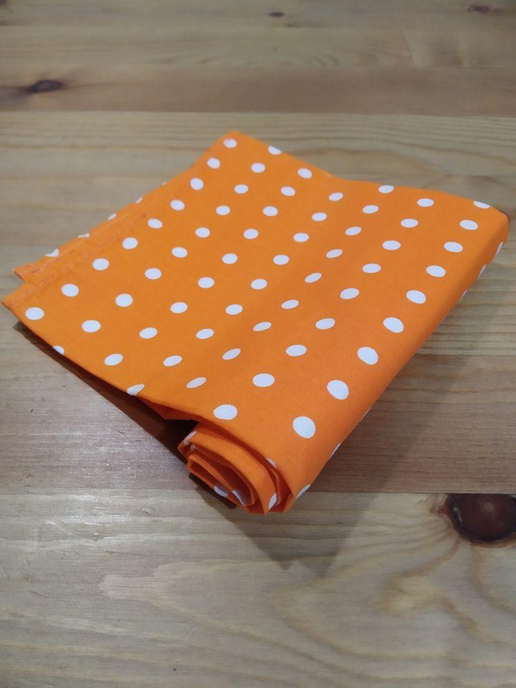 Šátek - puntíky oranžový