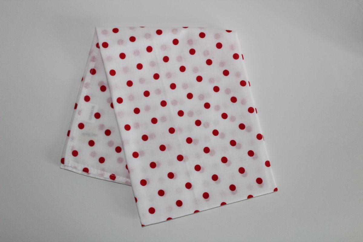 Šátek - bílý s červenými puntíky
