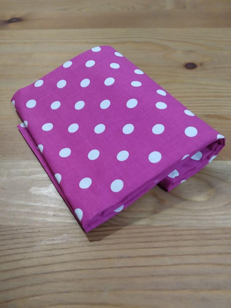 Šátek - puntíky růžový