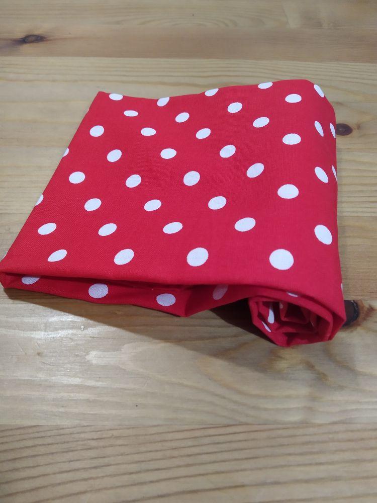 Šátek - puntíky červený