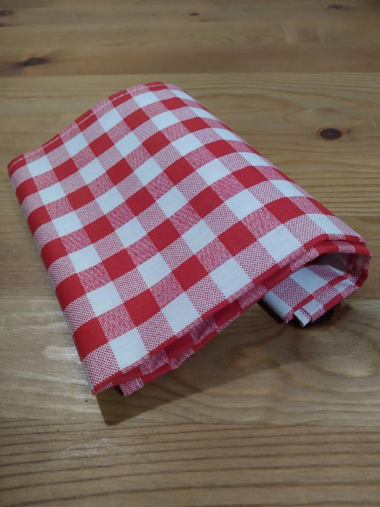 Šátek - kostky červený