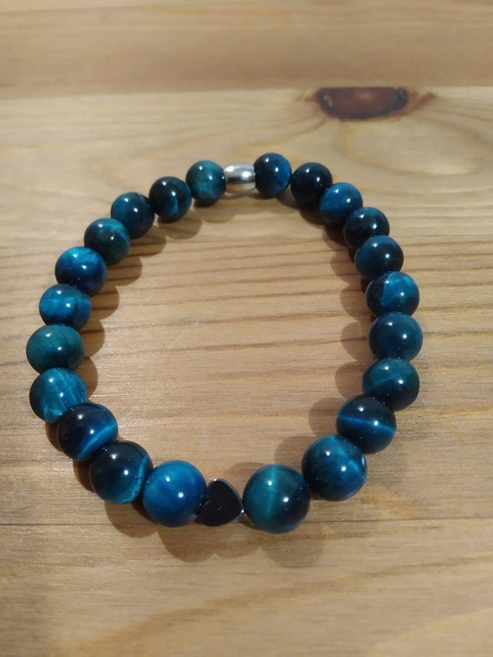 Náramek z minerálů - Modré tygří oko
