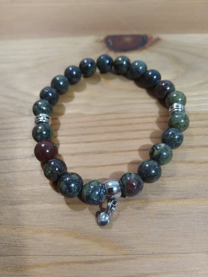 Náramek z minerálů - Jaspis