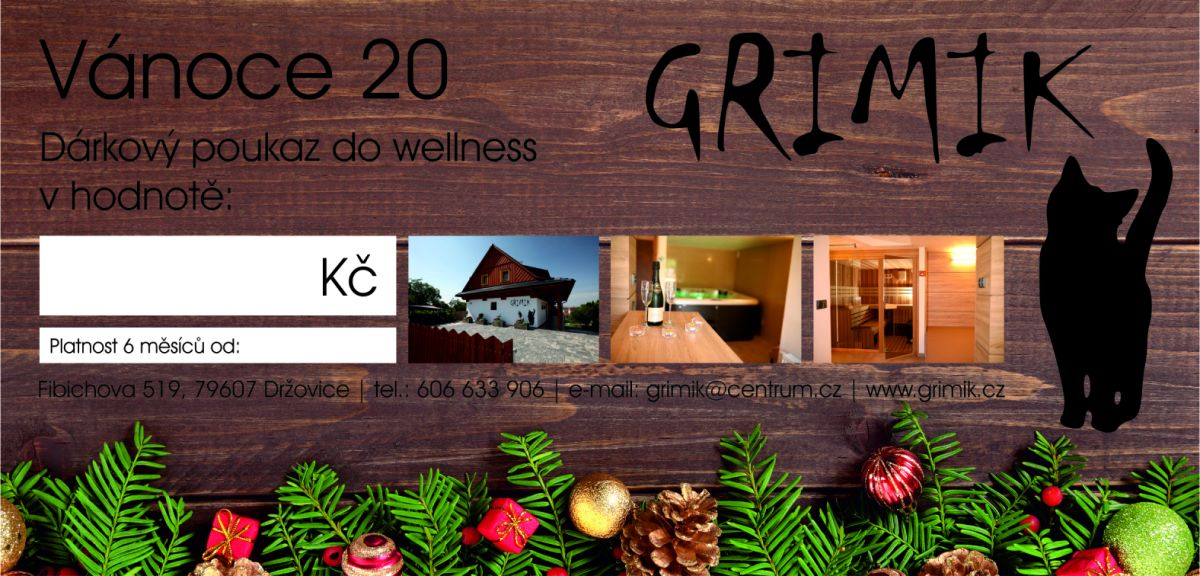 Wellness Grimik - vánoční voucher - Sauna