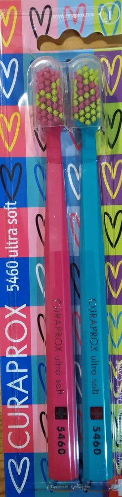 Valentýnská sada 2ks zubních kartáčků Curaprox - UltraSoft (5460) - č. 1