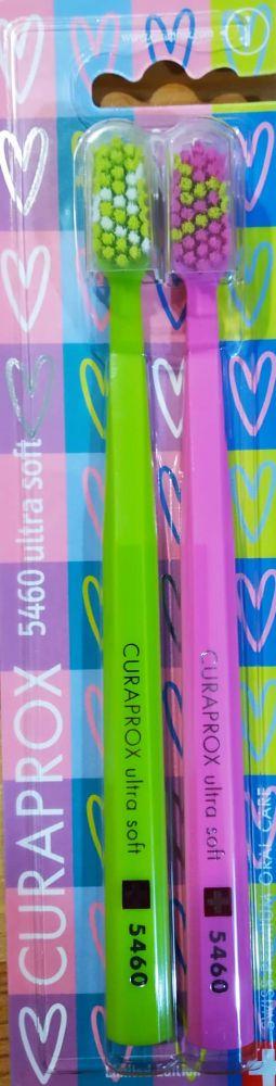 Valentýnská sada 2ks zubních kartáčků Curaprox - UltraSoft (5460) - č. 2