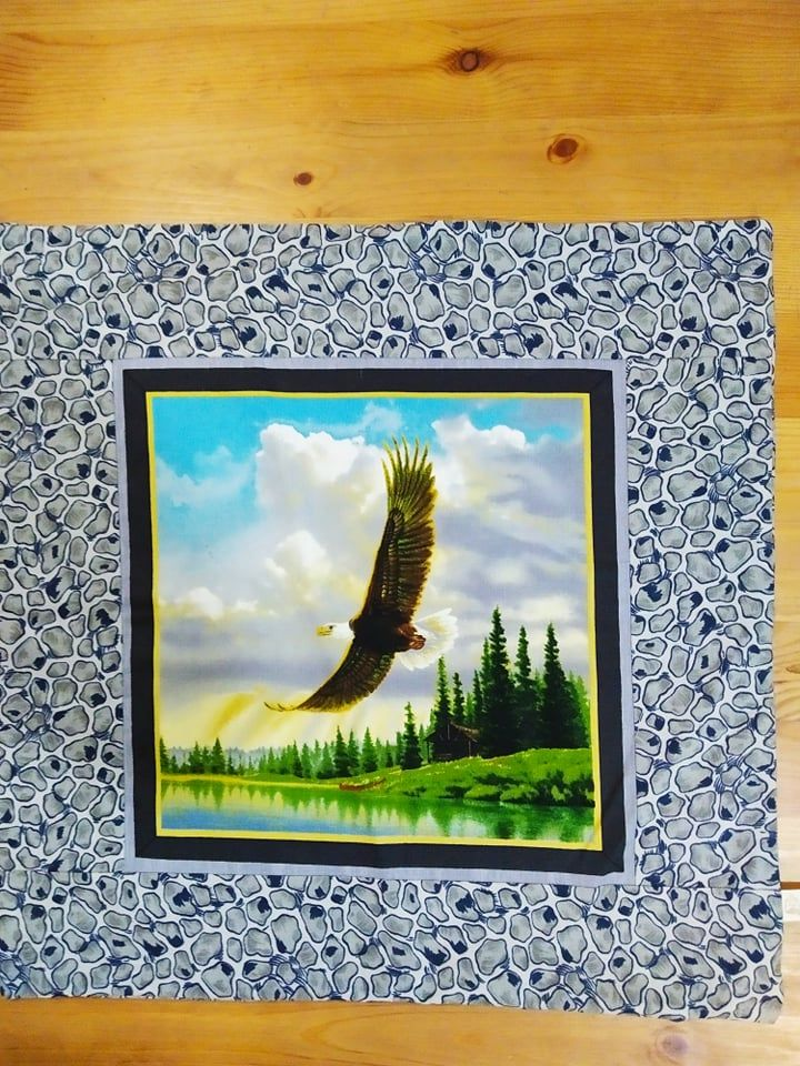 Povlak na polštář - orel v letu