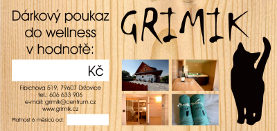 Wellness Grimik - voucher